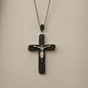 Beautiful Black Cross Necklace